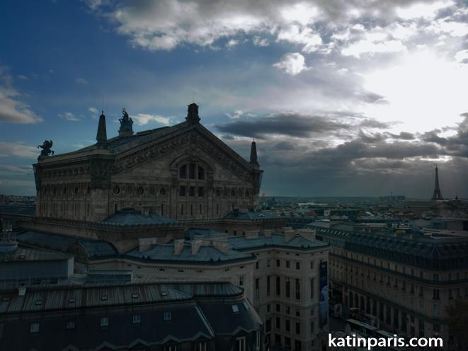 paryż panorama miasta francja opera paryska
