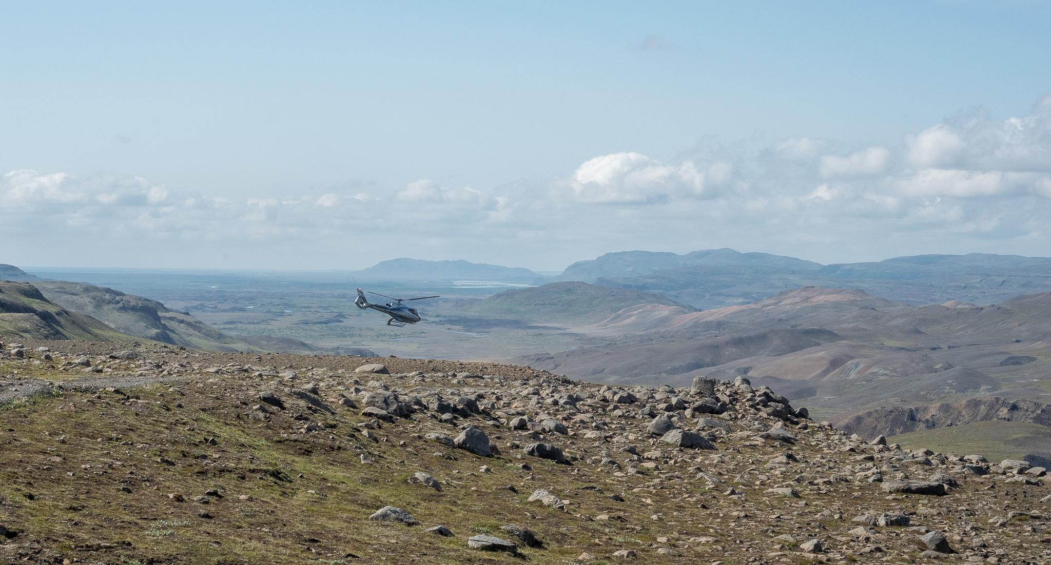 helikopter na Islandii