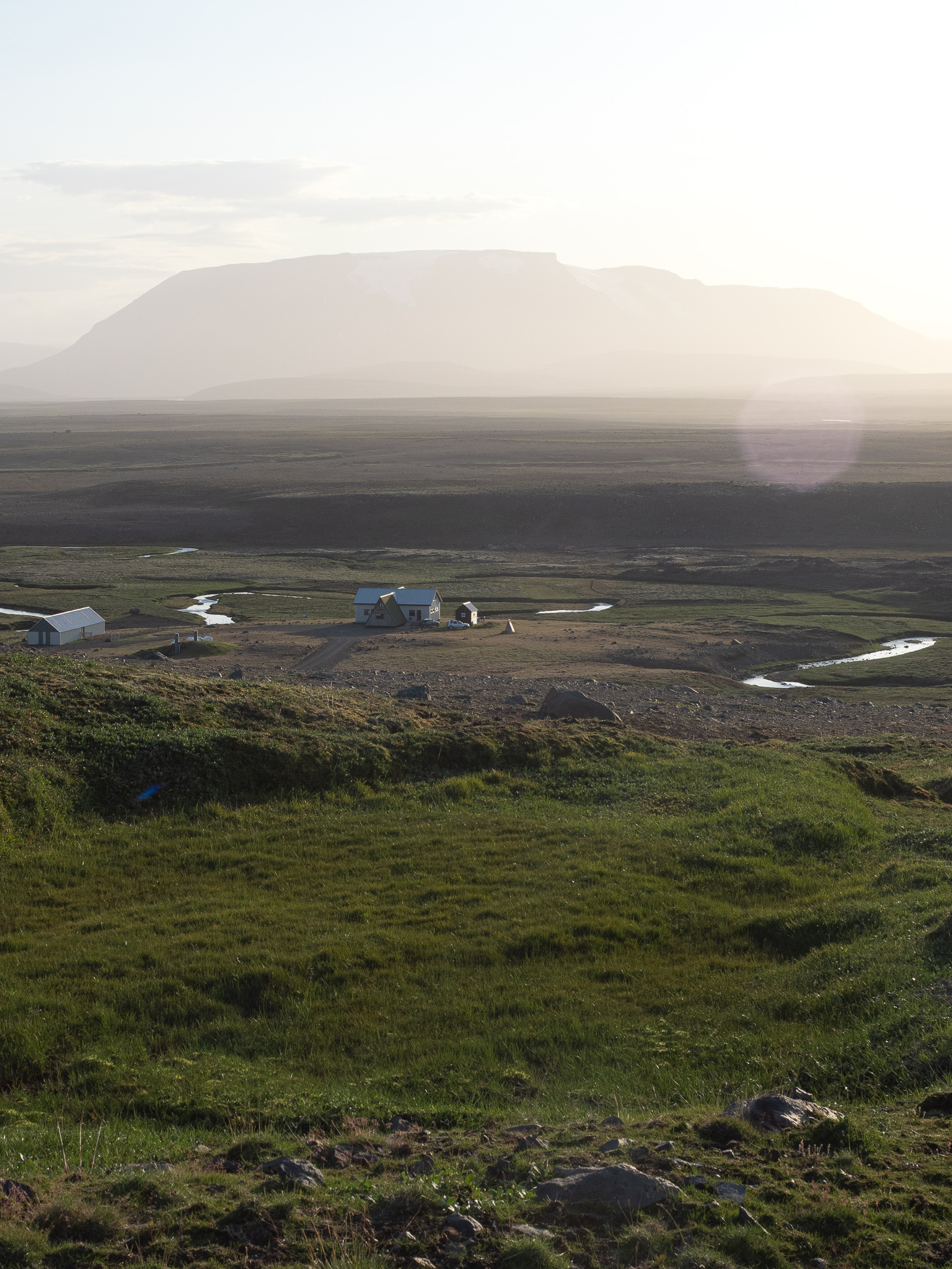 widok na najpiękniejszy kemping na Islandii