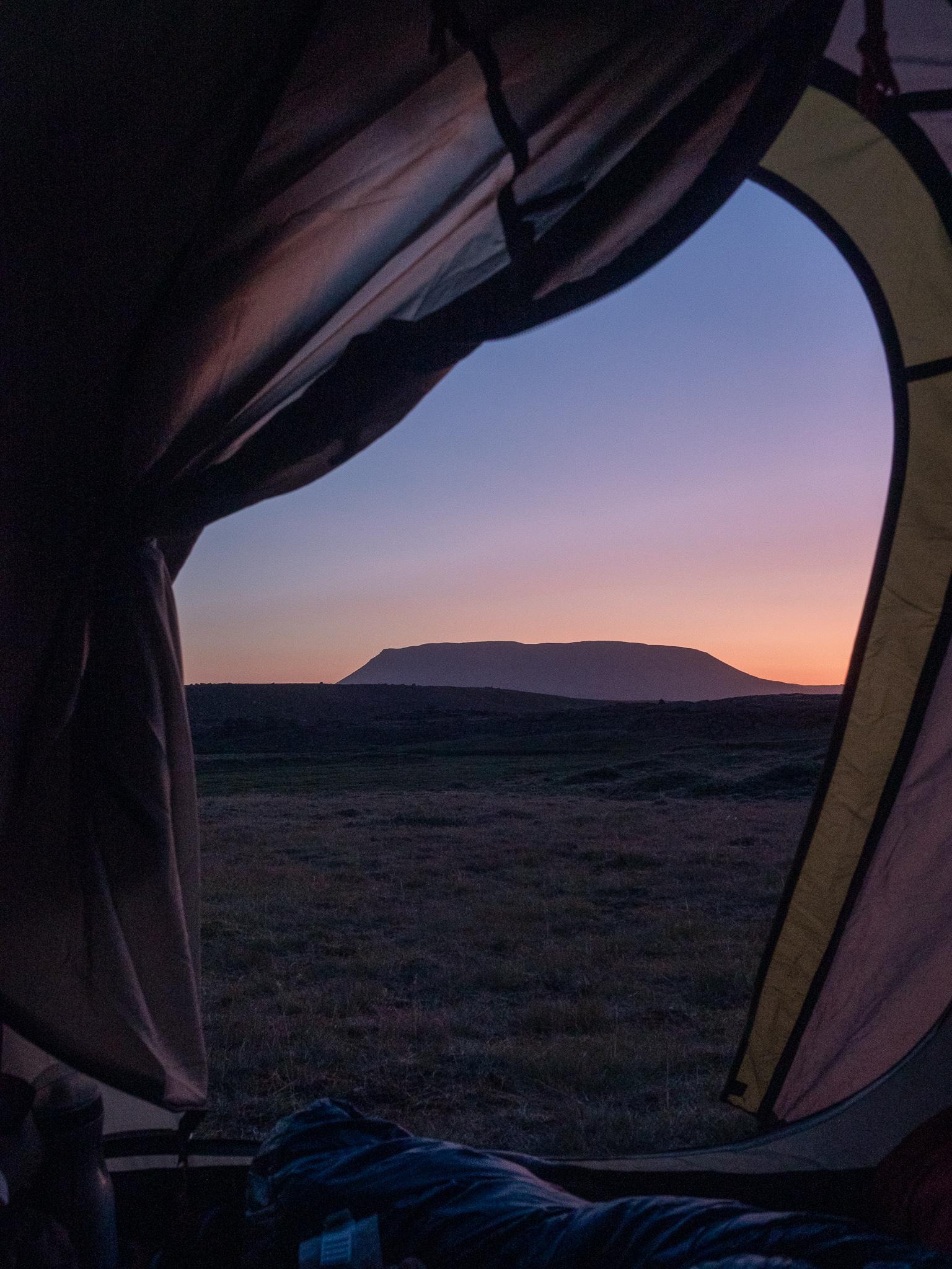 zachód słońca islandia