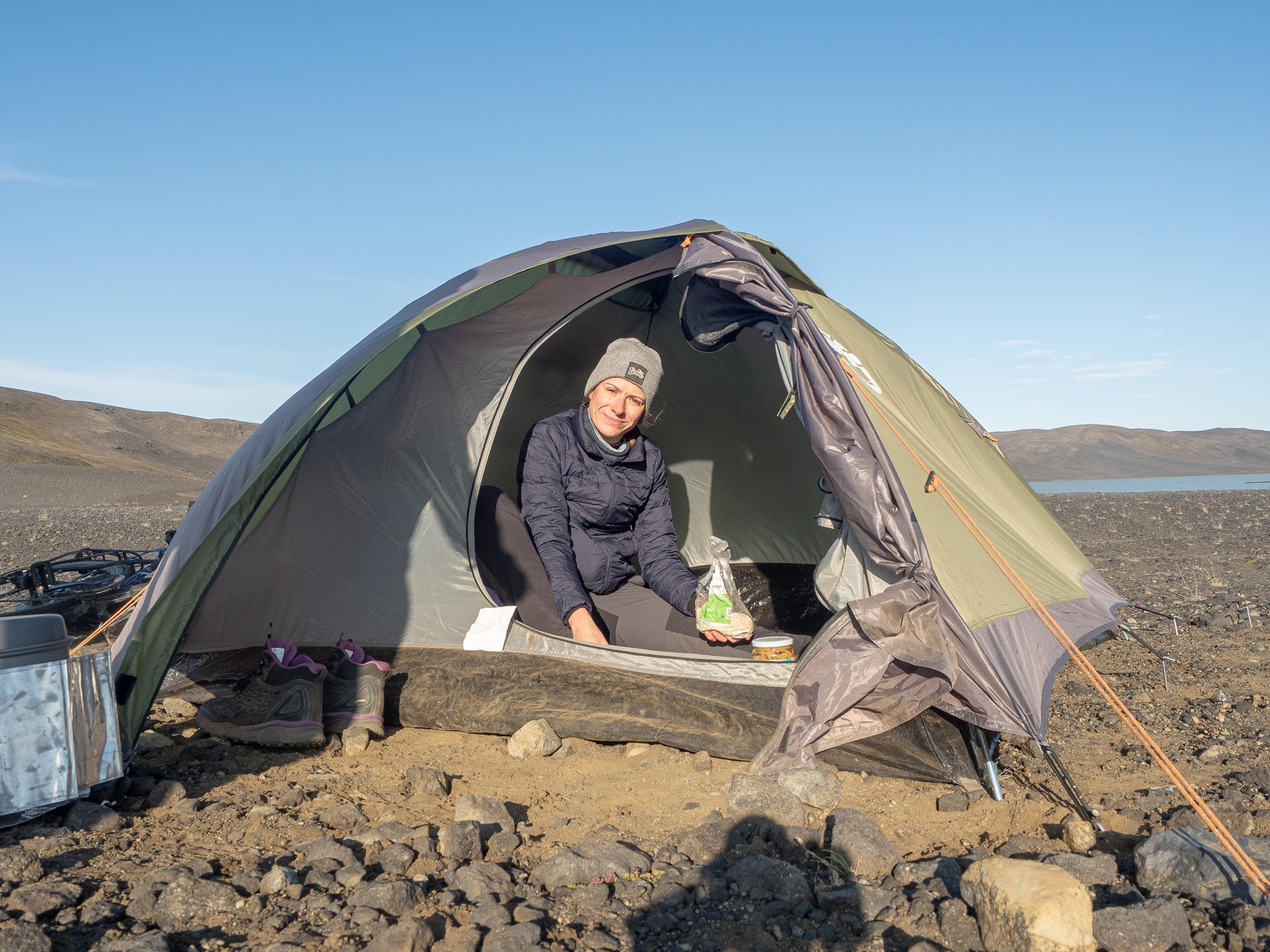 camping na Islandii