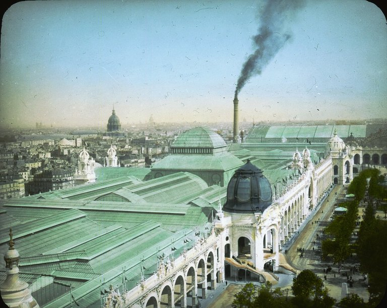Kolorowe zdjęcia z Paryża w 1900 roku