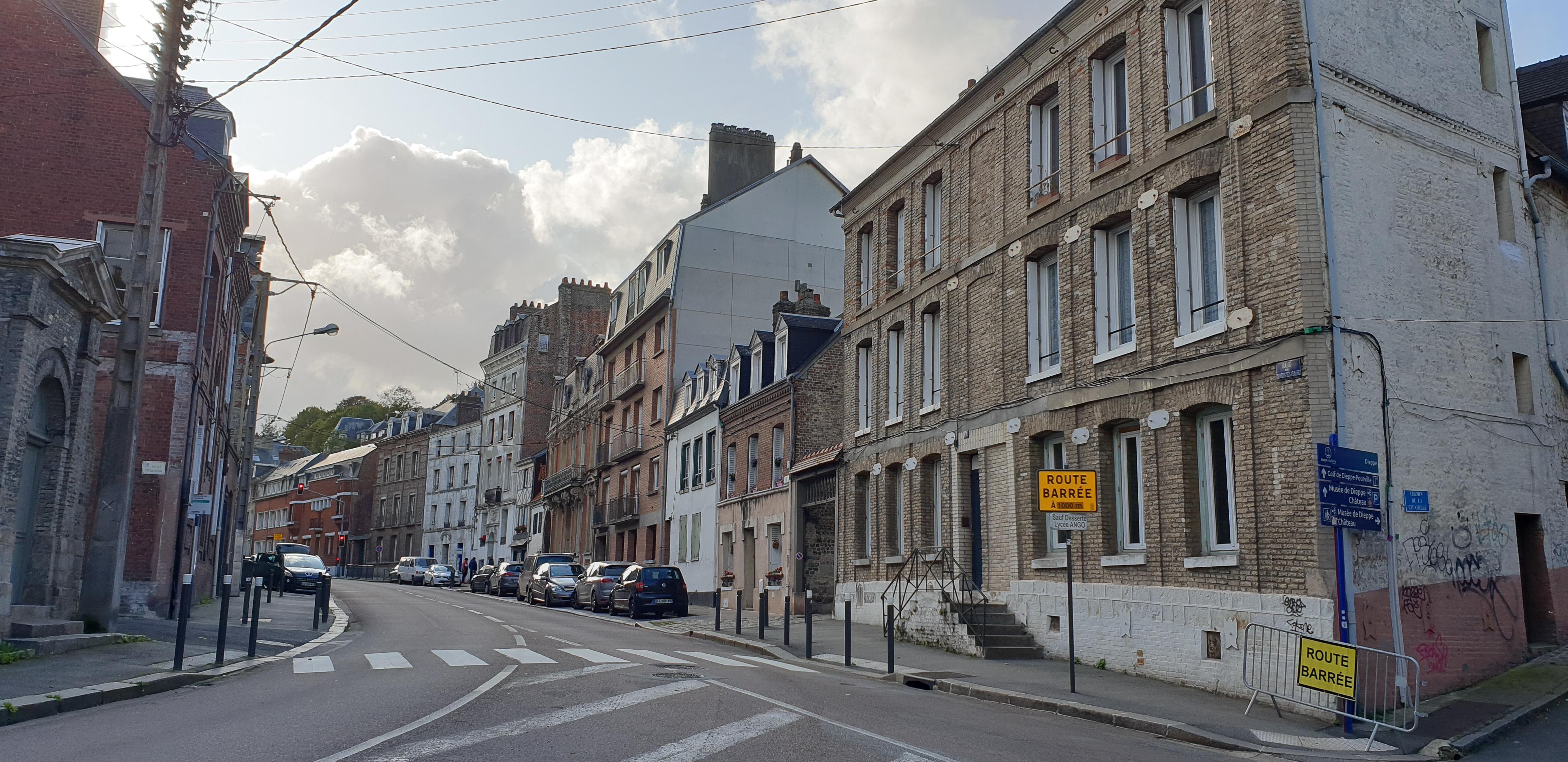 architektura normandzka w dieppe Normandia