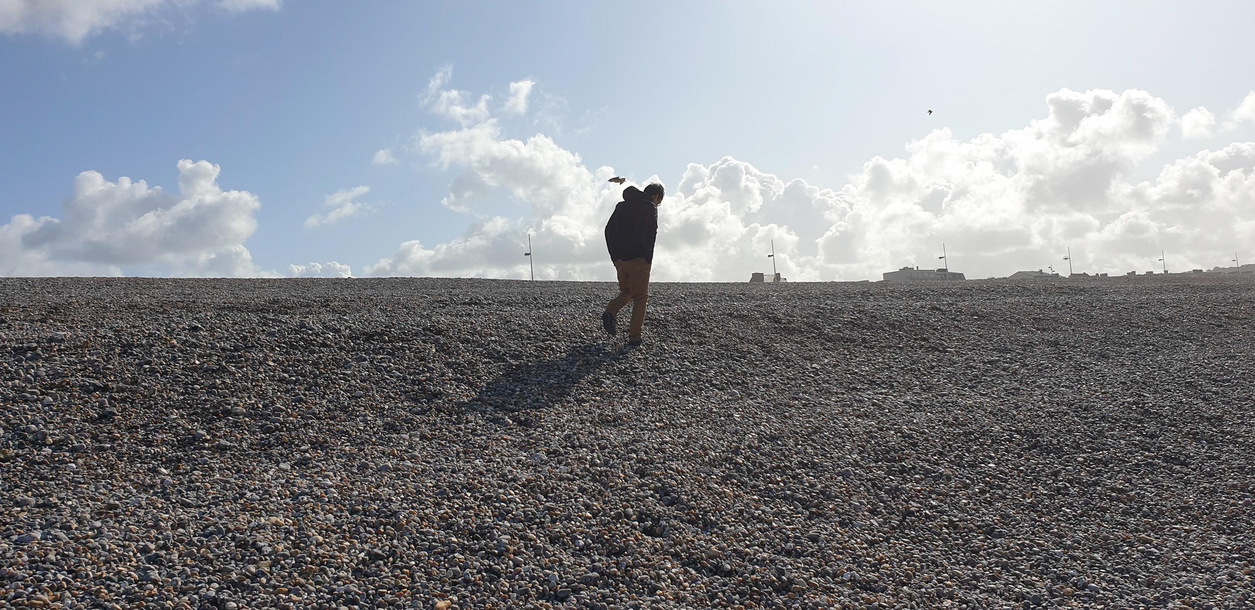 spacer po plaży w dieppe Normandia