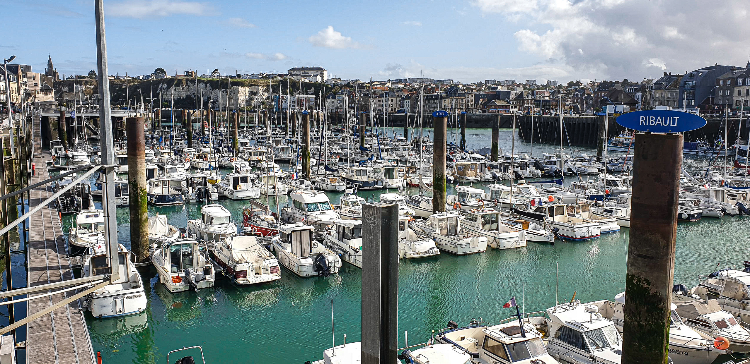 port w dieppe w normandii