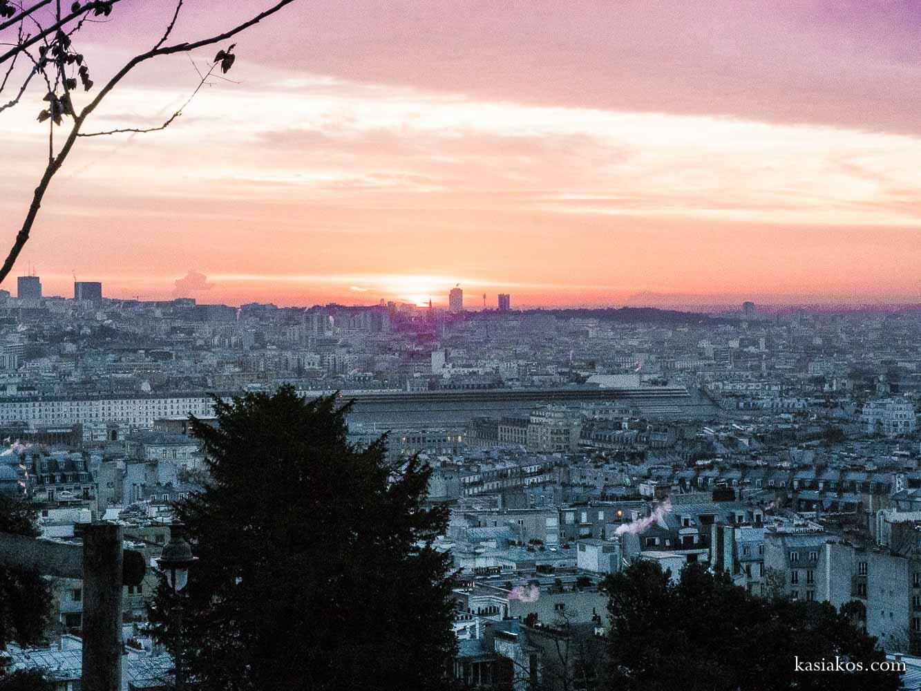 Montmartre Paryż wschód słońca