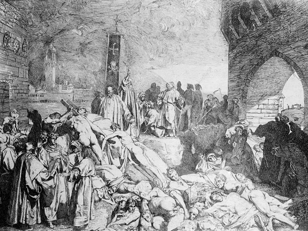 dżuma czarna ospa pandemia paryż