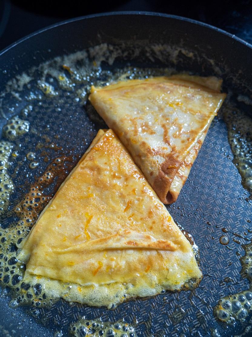 francuskie naleśniki crezowepes suzette pomarańć