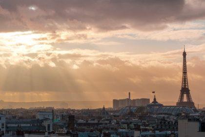 Panorama paryża Wieża Eiffla