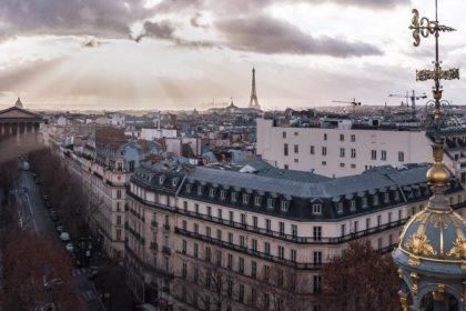 paryz panorama wieża eiffla